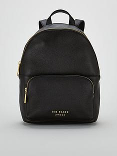 89d815647fc Ted Baker Paloya Soft Grain Zipper Backpack - Black