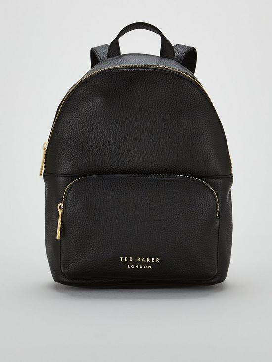 b59379c67 Ted Baker Paloya Soft Grain Zipper Backpack - Black