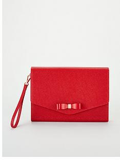 3a1d1de8a Ted Baker Krystan Bow Leather Envelope Pouch - Red