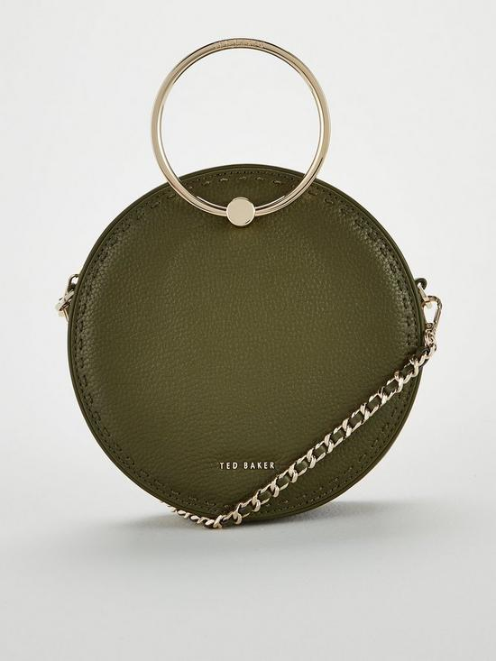 fb30387ae Ted Baker Madddie Stab Stitch Metal Circle Bag - Green