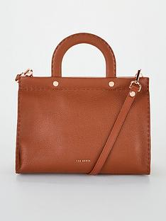 ted-baker-monicaa-stab-stitch-midi-tote-brown