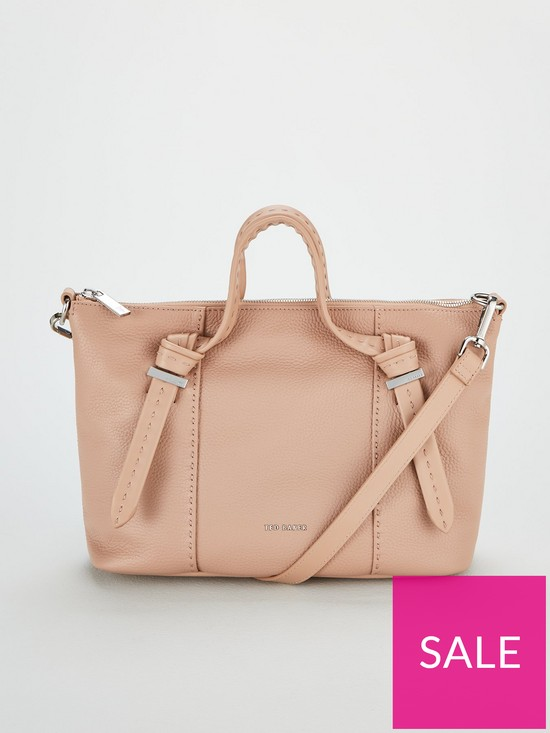 86954c96538 Ted Baker Olmia Knotted Handle Small Tote Bag - Taupe | very.co.uk