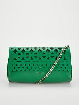 ted-baker-sallia-cut-out-detail-clutch-bright-green