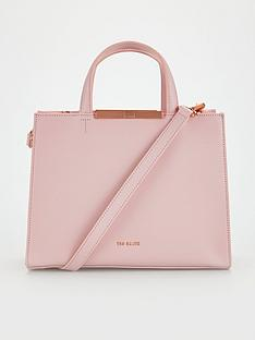 ted-baker-jaanet-faceted-bow-detail-leather-tote-light-pink