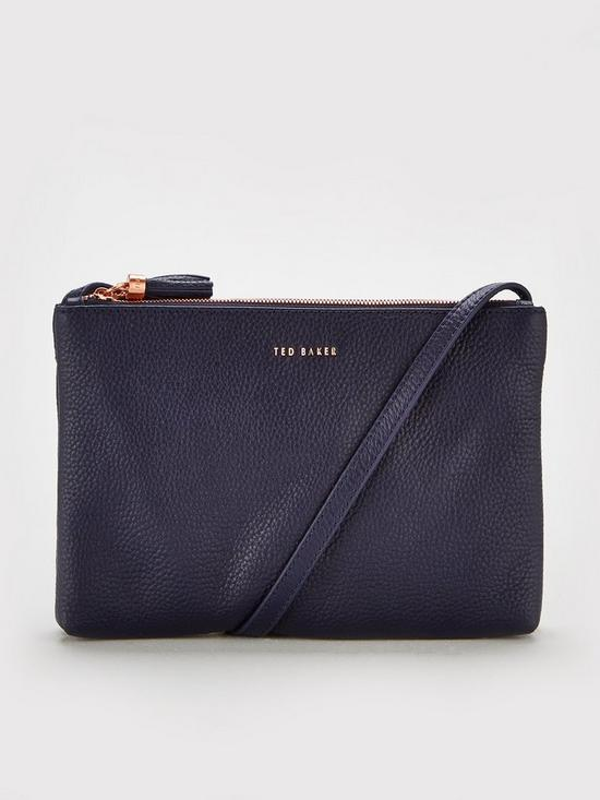 f20fa6a9290f Ted Baker Double Zipped Cross Body Bag - Charcoal
