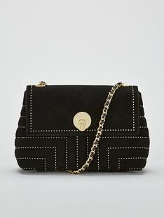 a63d1a423996d Ted Baker Saddiie Studded Circle Lock Cross Body Bag - Black