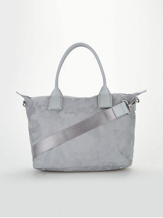85a6ab8064e60d Ted Baker Lanaya Camo Reflective Small Tote Bag - Grey