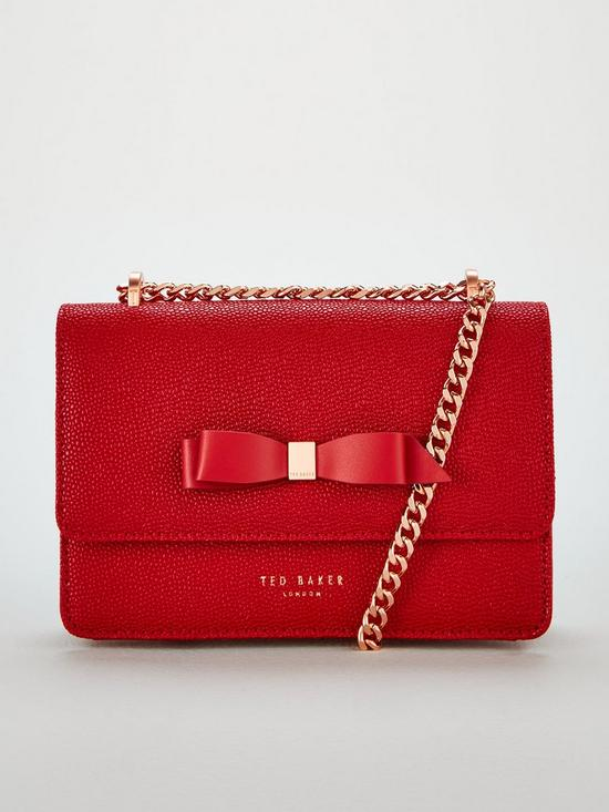 4154cf2d6fb Ted Baker Jayllaa Bow Detail Micro Cross Body - Red | very.co.uk