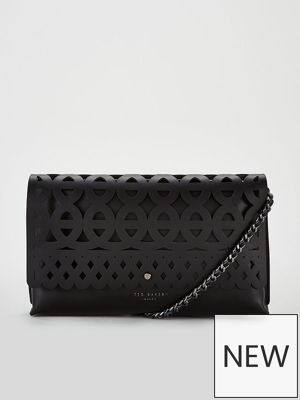 11519f39430 Ted Baker Sallia Cut Out Detail Clutch - Black | very.co.uk