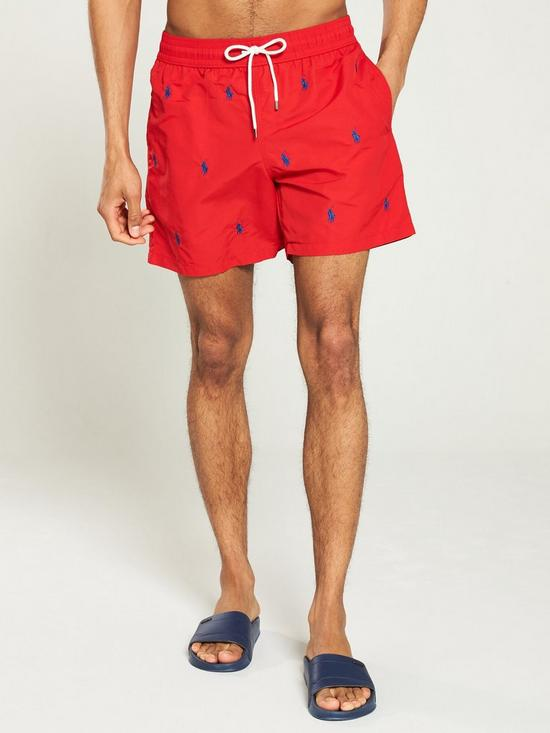 7c68c76288 Polo Ralph Lauren Logo Swim Shorts - Red | very.co.uk