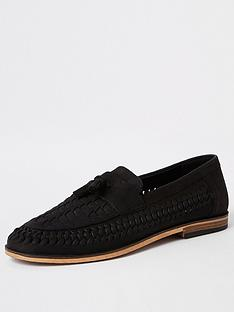 river-island-black-nubuck-hurrache