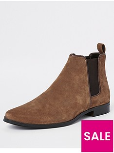 river-island-tan-suede-tall-chelsea-boot