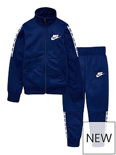 d19dc4e2d6ad4e Nike Sportswear Girls Tricot Tracksuit - Navy