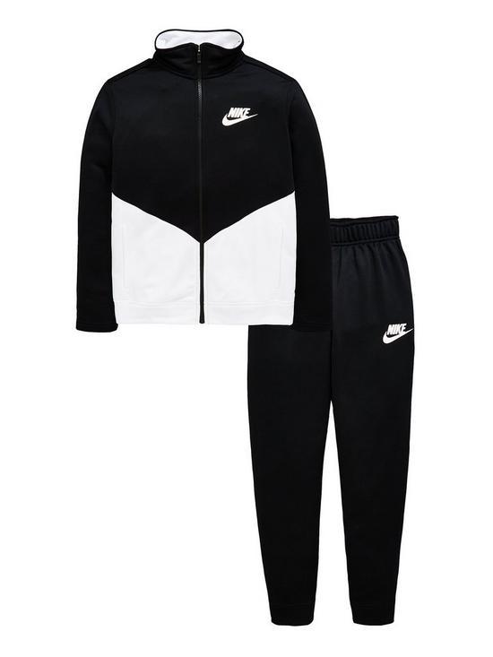 bcaf0b8c3 Boys Sportswear Poly Futura Tracksuit - Black/White