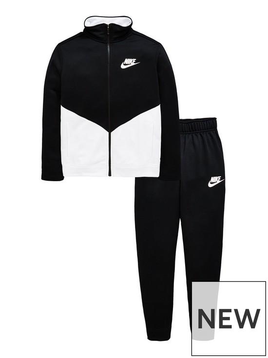 709babb43 Nike Boys Sportswear Poly Futura Tracksuit - Black/White | very.co.uk
