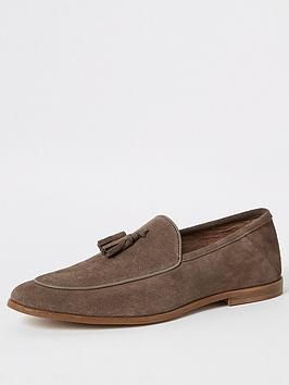 river-island-stone-suede-tassel-loafers