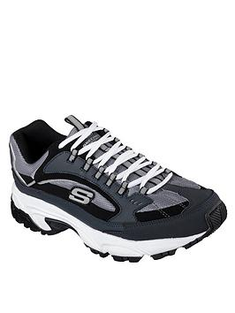 skechers-skechers-leather-mesh-trail-jogger-memory-foam-trainer