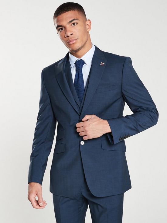 f353e4bf1400 Ted Baker Sterling Semi Plain Jacket - Dark Blue