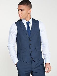 15fb5ad4a8cf Ted Baker Sterling Semi Plain Waistcoat - Dark Blue