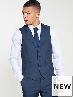 ted-baker-sterling-semi-plain-waistcoat-dark-blue