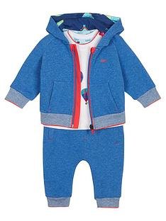 cedaa32bcd0a43 Baker by Ted Baker Baby Boys 3 Piece Sweat Jogger And T Shirt Set