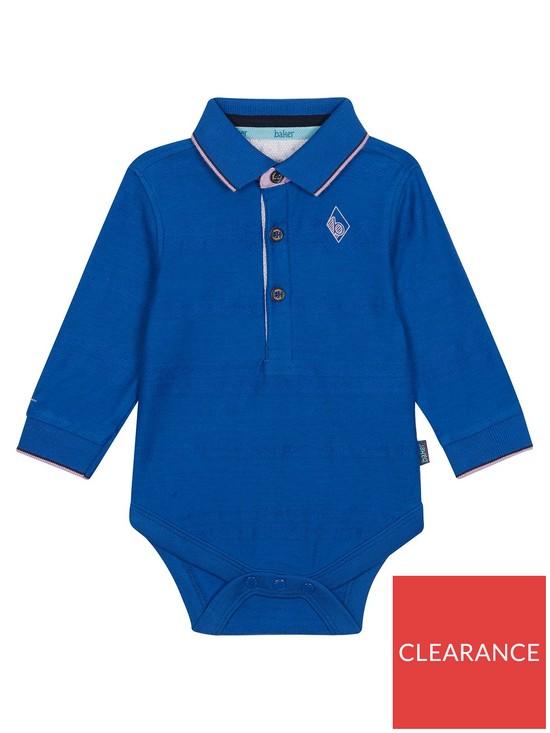 fdd8c7f0a7c6ed Baker by Ted Baker Baby Boys Long Sleeve Oxford Polo Bodysuit