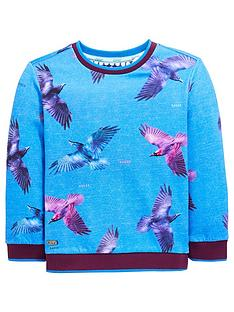 adab8c27c97f91 Baker by Ted Baker Boys Bird Print Long Sleeve T Shirt