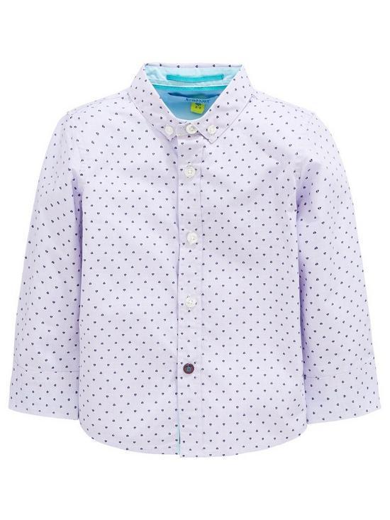 6cc77b79fe8be Baker by Ted Baker Boys Geo Long Sleeve Shirt