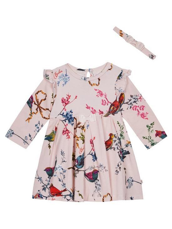 3ad6113d7729 Baker by Ted Baker Baby Girls Jersey Frill Dress   Headband - Light Pink