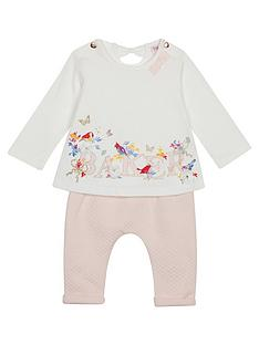 318ce459a63cd5 Baker by Ted Baker Girls Graphic Top And Hareem Trouser Set