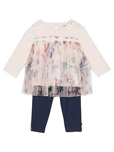 e50332280a16b Baker by Ted Baker Baby Girls Plisse Top And Legging Set