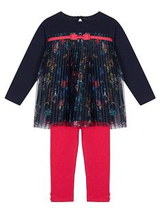 e439f8a96 Baker by Ted Baker Toddler Girls Printed Plisse Top And Legging Set