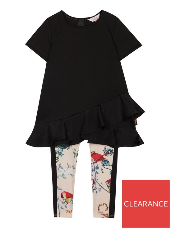 6dee433b6 Baker by Ted Baker Girls Frill Top And Legging Set