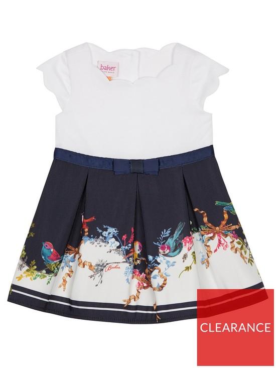 51af49c5bca4f1 Baker by Ted Baker Baby Girls Border Mockable Dress