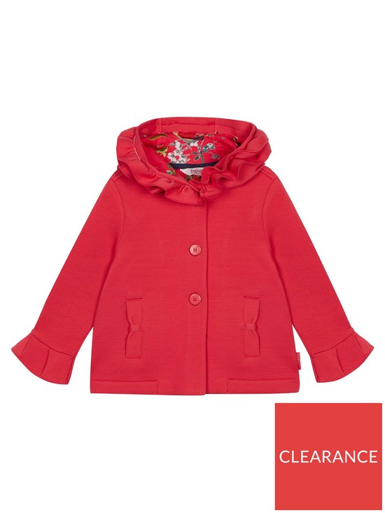 b4acce17cfff Baker by Ted Baker Toddler Girls Scuba Frill Hooded Jacket