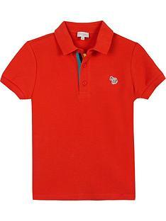 paul-smith-junior-boys-short-sleeve-zebra-badge-polo-red
