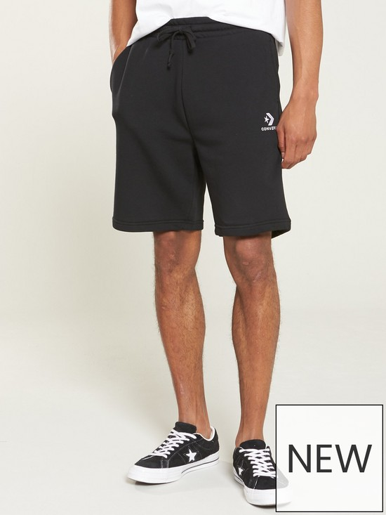 d66ca105babef4 Converse Star Chevron Shorts - Black