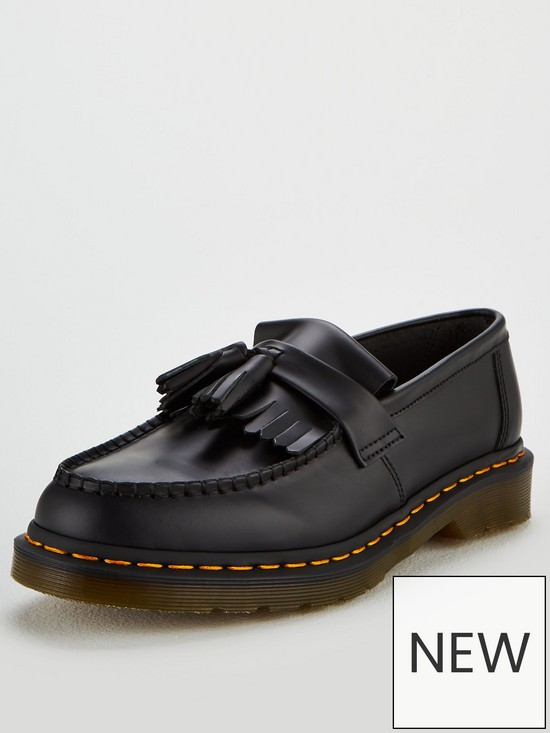 22c30ca46c6411 Dr Martens Dr Martens Adrian Yellow Stitch Tassel Loafer   very.co.uk