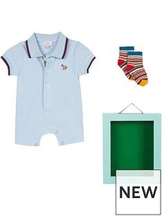 bcb9dc1af3 Paul Smith Junior Baby Boys Romper   Sock Gift Box