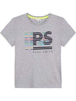 paul-smith-junior-boys-short-sleeve-logo-t-shirt--nbspgrey