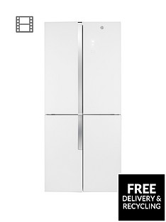 Hoover HFDN180UK 78.5cm Wide Total No Frost 4-Door American Style Fridge Freezer - White