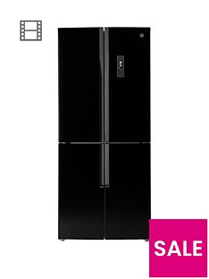 Hoover HFDN180BK 78.5cm Total No Frost 4 Door American Style Fridge Freezer - Black