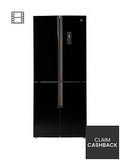 hoover-hfdn180bk-785cm-total-no-frost-4-door-american-style-fridge-freezer-black