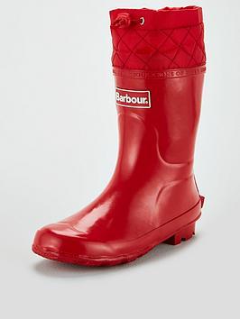 barbour-kids-corbridge-adjustable-wellington-boots-red