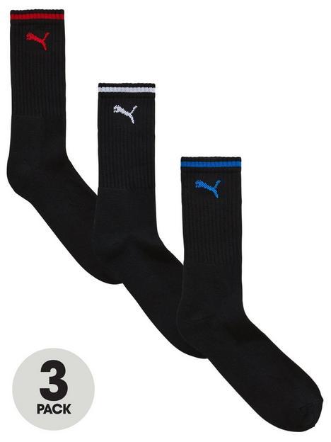 puma-3-pack-stripe-sport-socks-black