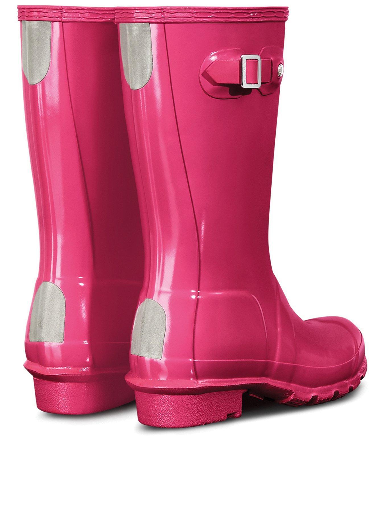 hunter Original Kids First Classic Bright Pink Wellington Boots-UK 12 Kids