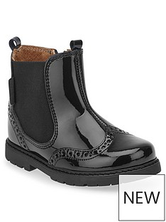 start-rite-black-patent-chelsea-boot