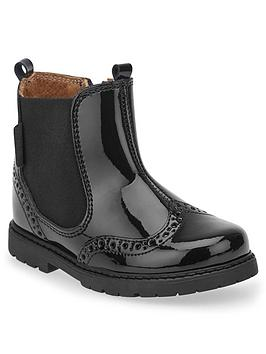 start-rite-patent-chelsea-boots-black