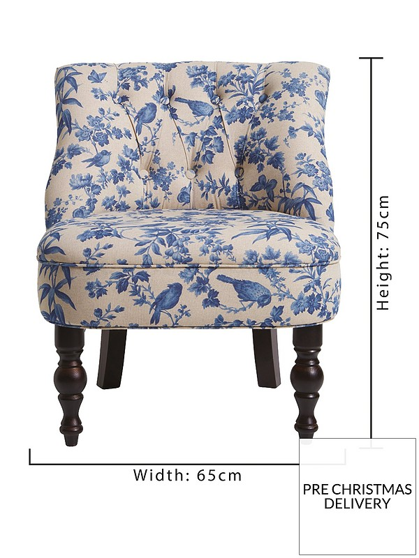 Astonishing Odette Fabric Amelia Accent Chair Blue Machost Co Dining Chair Design Ideas Machostcouk