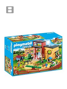 17c5b5cbb40 Playmobil Playmobil 9275 City Life Tiny Paws Pet Hotel with Flexible  Outdoor Fence